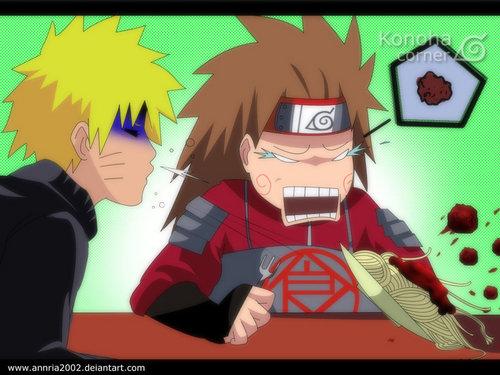 Naruto and Chouji