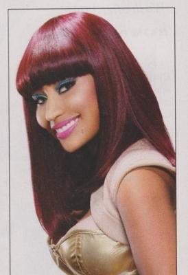Nicki Minaj wallpaper possibly containing a portrait entitled Nicki - Black Hair Magazine (February 2011) - HQ