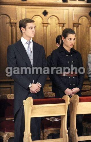 Pierre Casiraghi, charlotte Casiraghi and Andrea Casiraghi in Monte Carlo