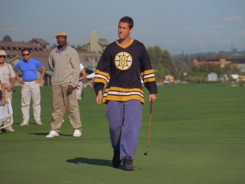 Adam Sandler پیپر وال with a وکٹ titled Sandler in Happy Gilmore