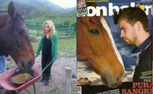샤키라 and Piqué: both they are like 의해 a horse!
