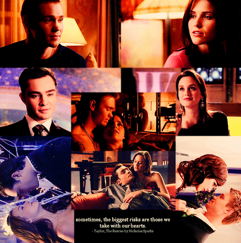 Brucas Hintergrund entitled Sometimes, the biggest risks are those we take with our hearts.