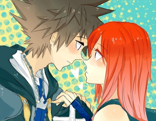 kingdom hearts fondo de pantalla with anime called Sora x Kairi