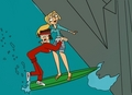 Surfing - Bridgette and Tyler - total-drama-island fan art