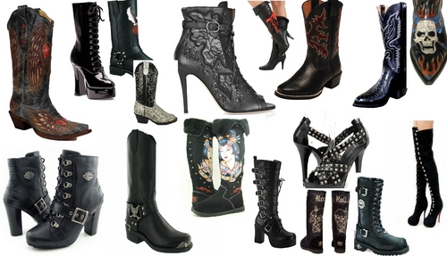 """Sussie """"Black"""" Sapphire: all her boots"""