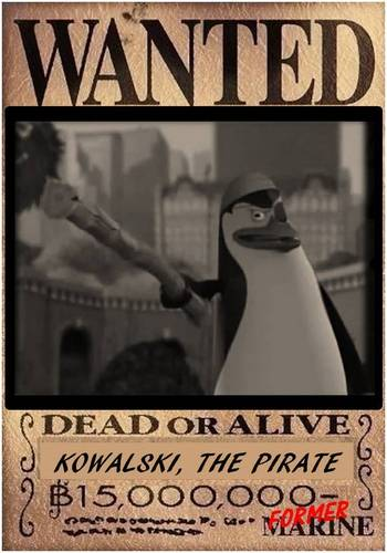 THE EVIL PIRATE, KOWALSKI [dead o alive poster]