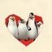The Penguins Inside a Heart