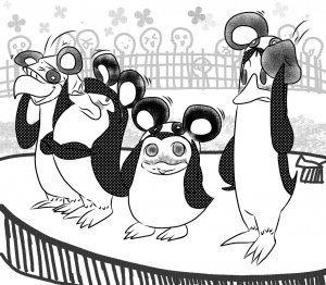 The penguins dressed like mickey माउस