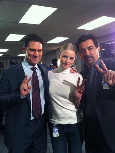 Thomas, Rachel and Joe on the set