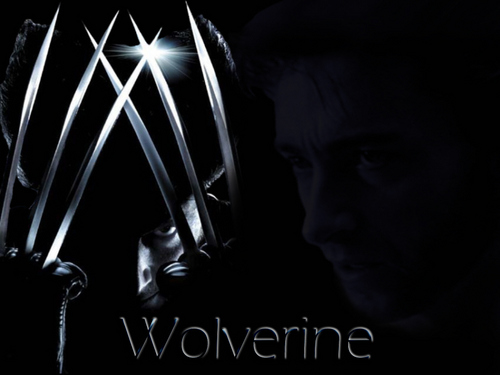 Hugh Jackman as Wolverine wallpaper probably with a fonte called Wolverine