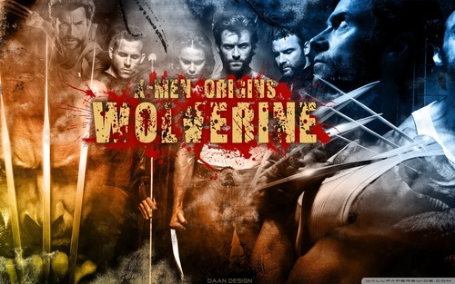 Hugh Jackman as Wolverine wolpeyper with anime titled Wolverine