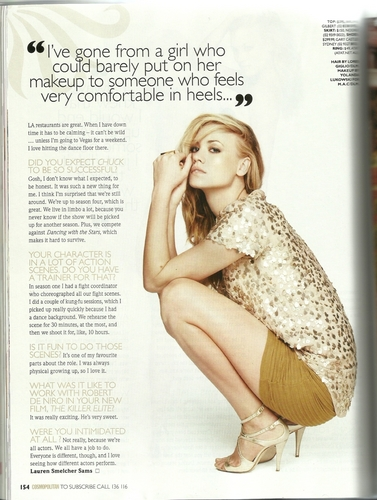 Yvonne Strahovski in the March 2011 Issue of Cosmopolitan Australia