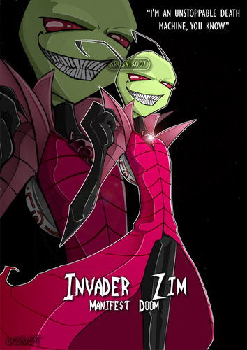Invader Zim wallpaper with anime entitled Zim
