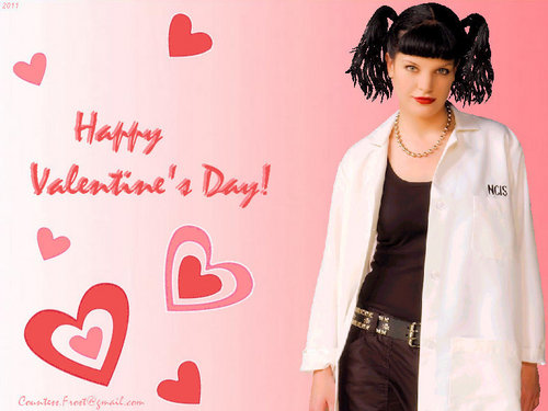 Abby Sciuto wallpaper possibly containing a well dressed person, an outerwear, and an overgarment entitled an Abby valentine