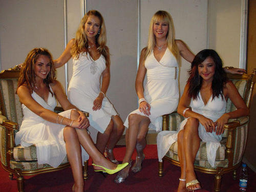 Bond quartet wallpaper probably containing bare legs, a chemise, and a bustier called bond quartet