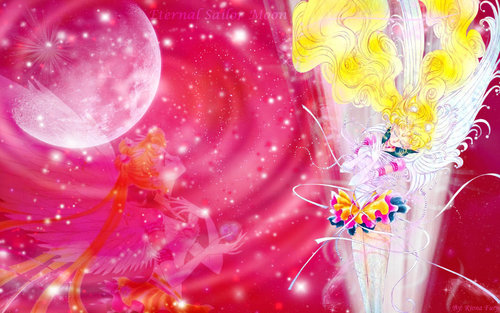 세일러 문 바탕화면 probably with a bouquet titled eternal Sailor Moon