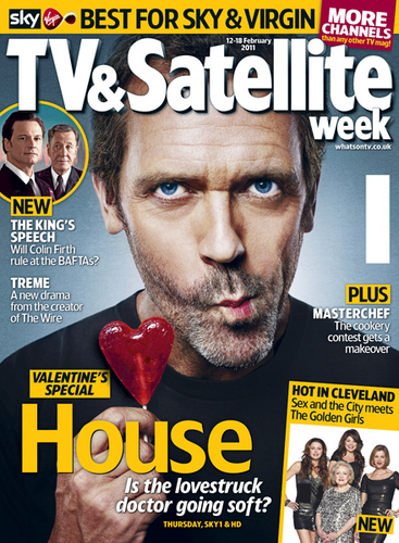 Hugh Laurie on the Cover of TV Satellite February 2011