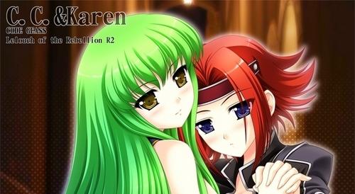 kallen and c.c(yuri)