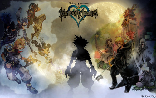 Kingdom Hearts karatasi la kupamba ukuta probably with anime entitled kingdom hearts