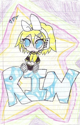 Rin und Len Kagamine Hintergrund called lil Rin