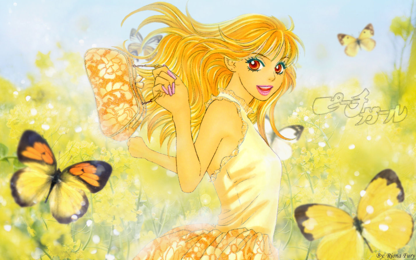 Peach girl images peach girl momo butterfly hd wallpaper and background photos