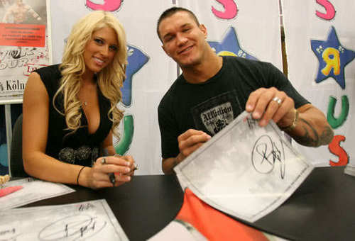 randy orton and WWE diva kelly kelly