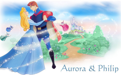 Aurora and Phillip achtergrond probably with a bouquet called ♥Aurora and Phillip♥