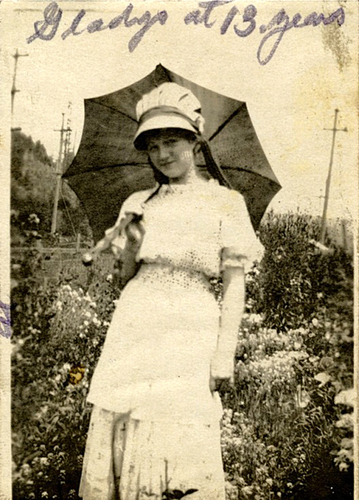 Marilyn's mother, Gladys, aged 13