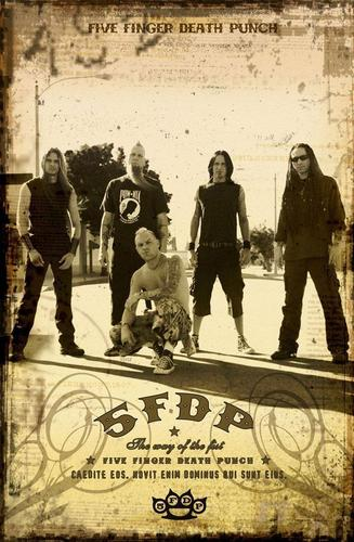 Five Finger Death Punch wallpaper probably containing a street titled 5FDP