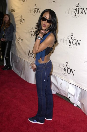 Aaliyah wallpaper containing long trousers and a pantleg entitled Aaliyah <3
