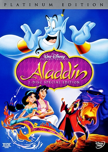 aladdin - Two-Disc Platinum Edition disney DVD Cover