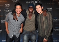 Alex Meraz, Chaske Spencer, and Edi Gathegi Visit the Pool at Harrah's Resort - twilight-series photo