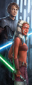 Anakin and his padawan Ahsoka - star-wars-clone-wars fan art