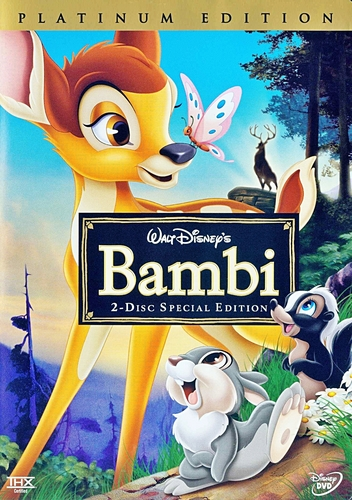 Bambi - Two-Disc Platinum Edition Disney DVD Cover