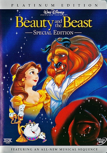 Beauty and the Beast -Two-Disc Platinum Edition Disney DVD Cover