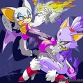 Blaze Vs Rouge - blaze-the-cat fan art