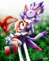 Blaze the cat and cream the rabbit! - blaze-the-cat fan art