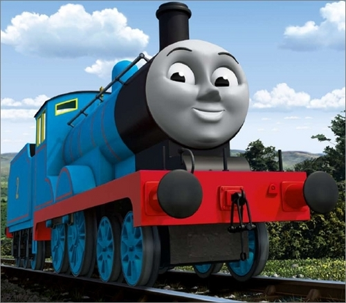 Thomas the Tank Engine kertas dinding titled CGI Edward