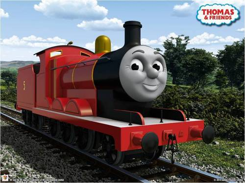 Thomas the Tank Engine Hintergrund titled CGI James