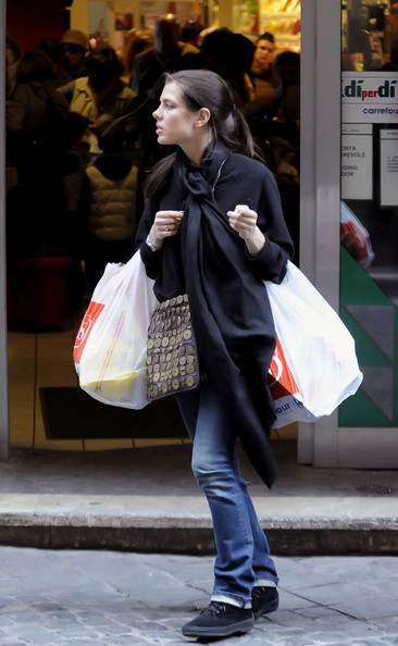 Charlotte Casiraghi Grocery Shops
