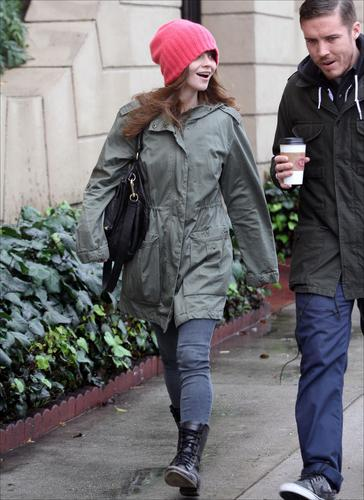 Christina out & about in L.A. 12/21/10