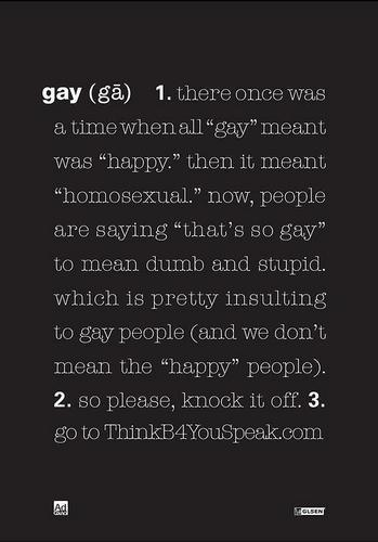 Definition of the word gay