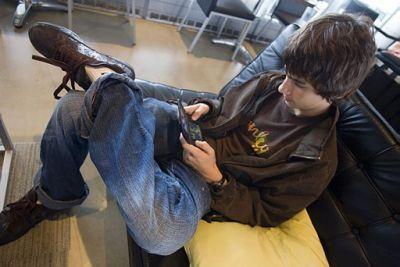Devon Playing his Nintendo DS!