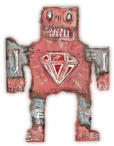 Diamond Man da outsider artist Justin Aerni
