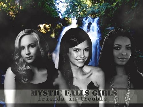 Elena, Caroline and Bonnie