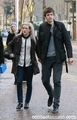 Ellie & Greg James leaving ITV studios London