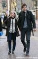 Ellie & Greg James leaving ITV studios London