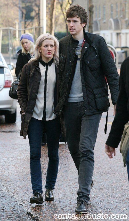 Ellie & Greg James leaving ITV studios London - Ellie ...