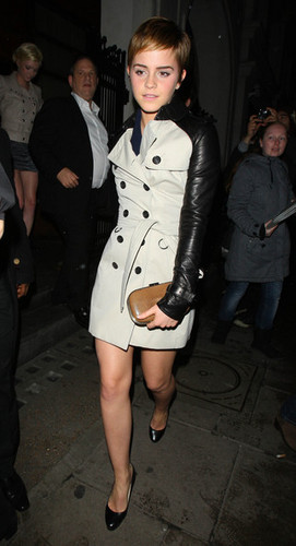 Emma Watson wolpeyper probably with a business suit entitled Emma out and about in London {11-2-11}