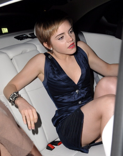 Emma Watson fond d'écran probably containing a cocktail dress entitled bouvreuil, finch & Partners' Pre-BAFTA Party
